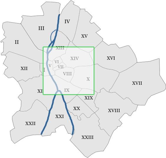 Karta Over Budapest Sevardheter.Budapest Stadsdelar Fakta Om Olika Stadsdelarna I Budapest