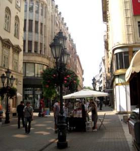 Budapest centrala gågata